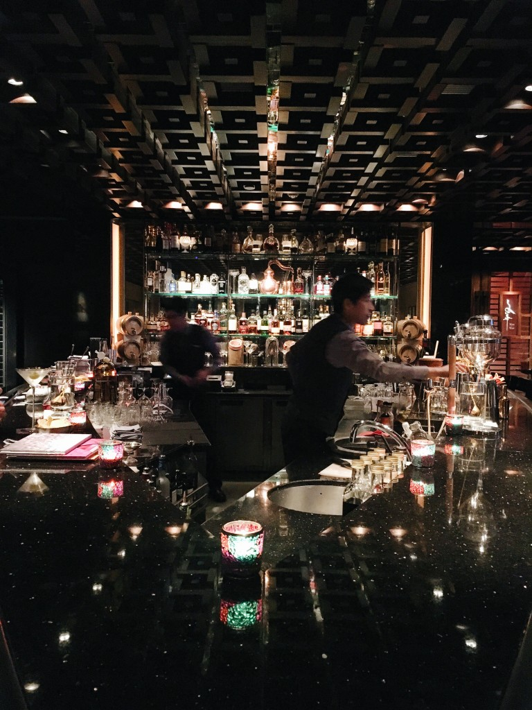 Drinks at M Bar (MO HK)