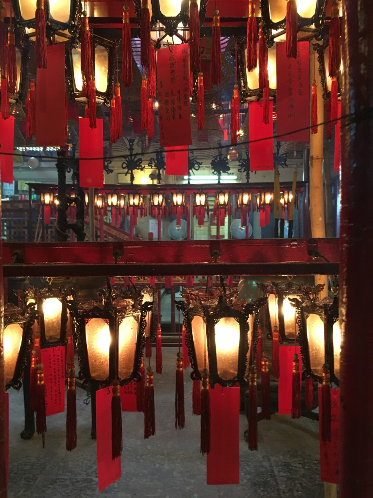 Visiting a Temple in HK
